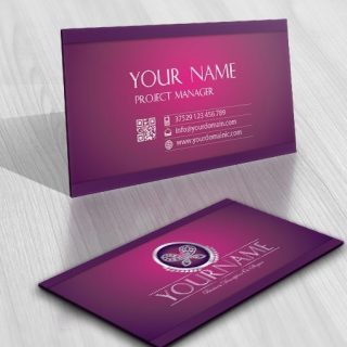 online Diamonds Butterfly Logo card design
