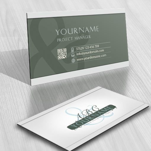 Elegant Alphabet & logo card design