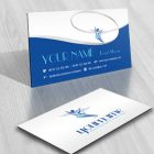 Flying Man Logo card design online