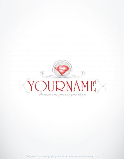Jewelry ruby Diamond Logo design