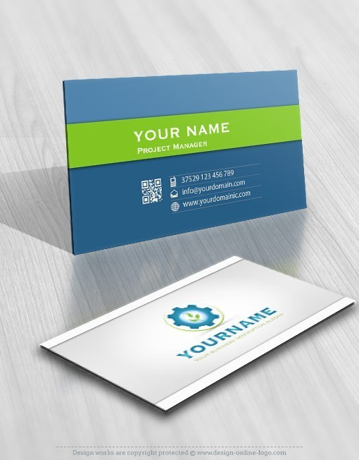 Industrial water logo online card design