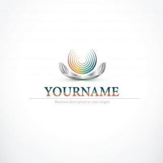 Abstract Hands holding logo design