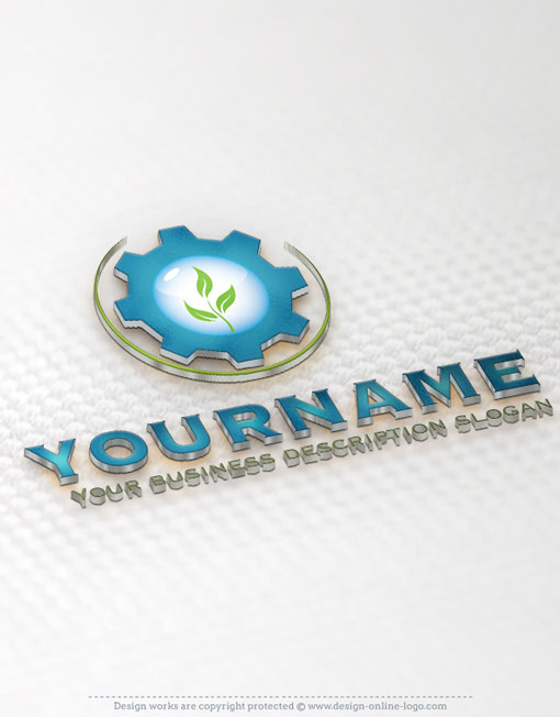 Industrial water logo online design
