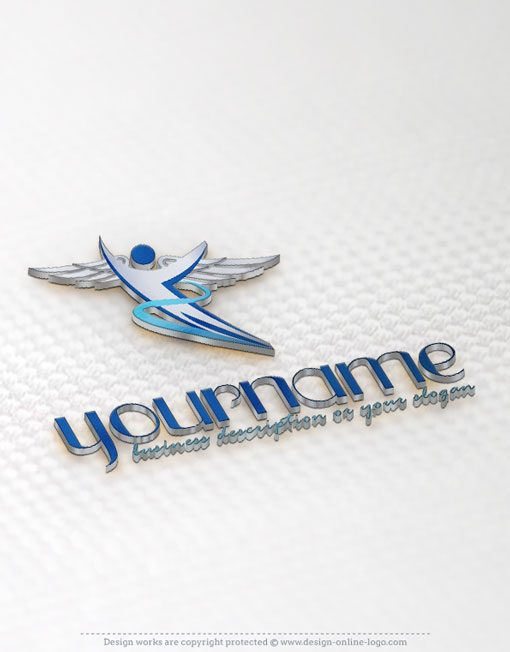 Flying Man Logo design online