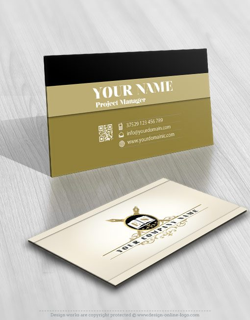 Initial Education logo card design