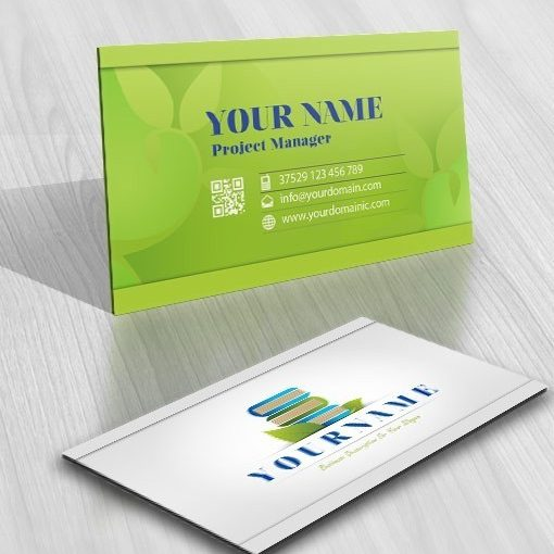 Book Education logo card design