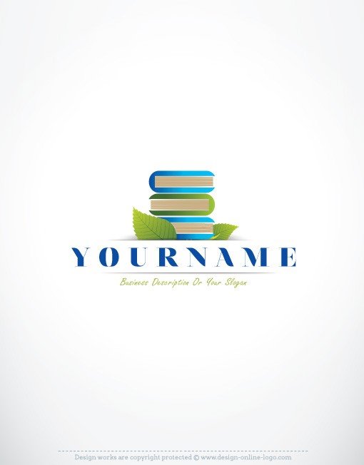 Books Education logo design online