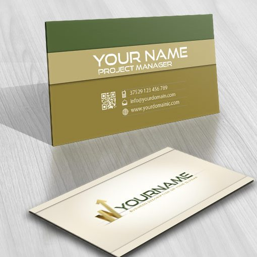 Finance Accounting logo business card design