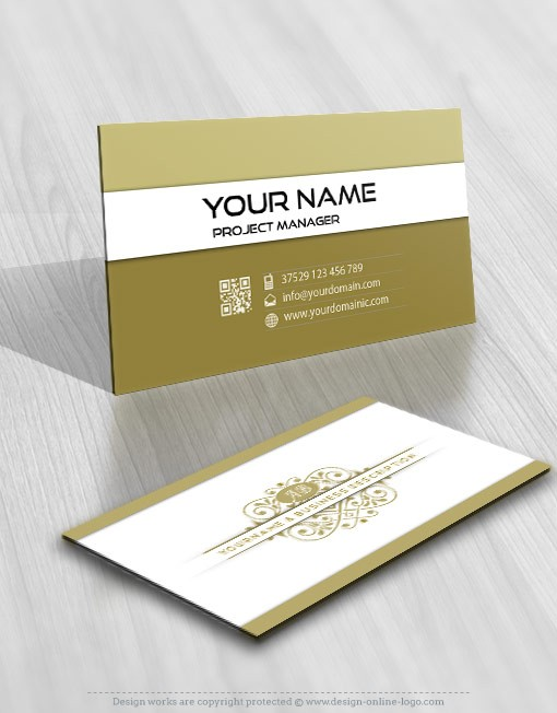 Alphabet Logo business card design template