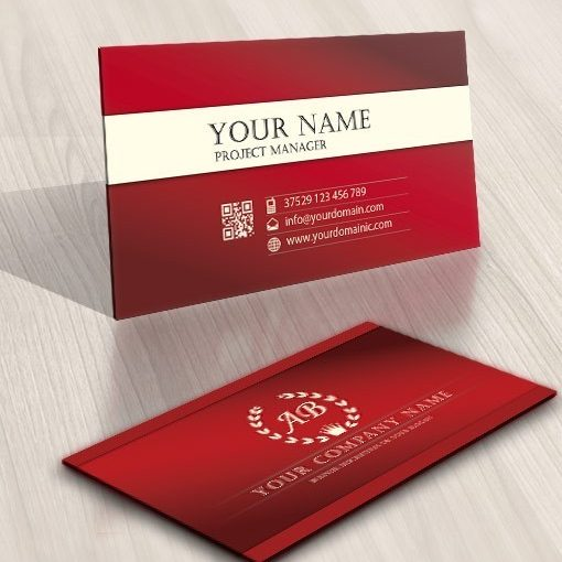 Crest Initial Logo business card template