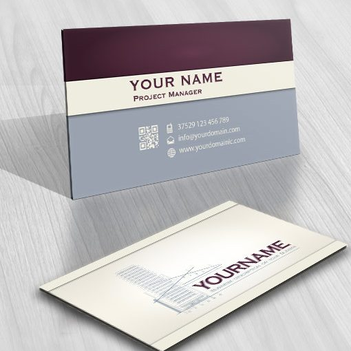 Architect Real Estate Logo card design template