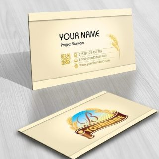 Initial bakery Wheat Logo free card design