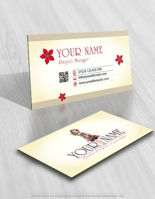 Female-girl-fashion-logo-business-card-design
