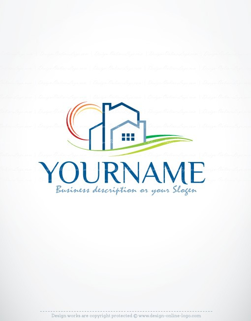 Construction Real Estate Logo Free Business Card