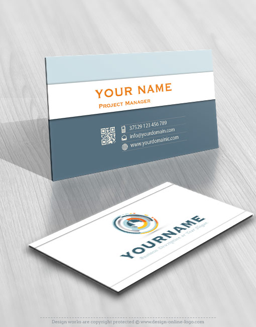 online High Tech web logo card design free