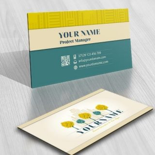 Urban skyline Logo free card design