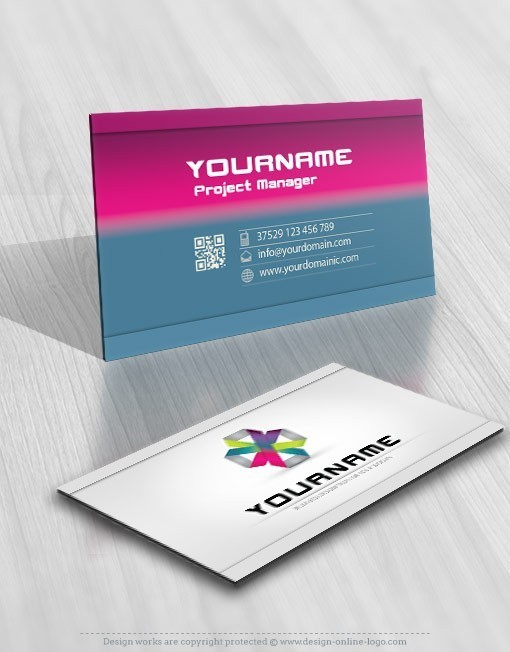3D Abstract Logos free card design