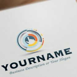 online High Tech web logo template