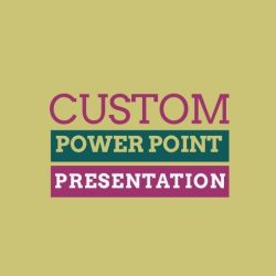 Custom 3D power point slide show Design