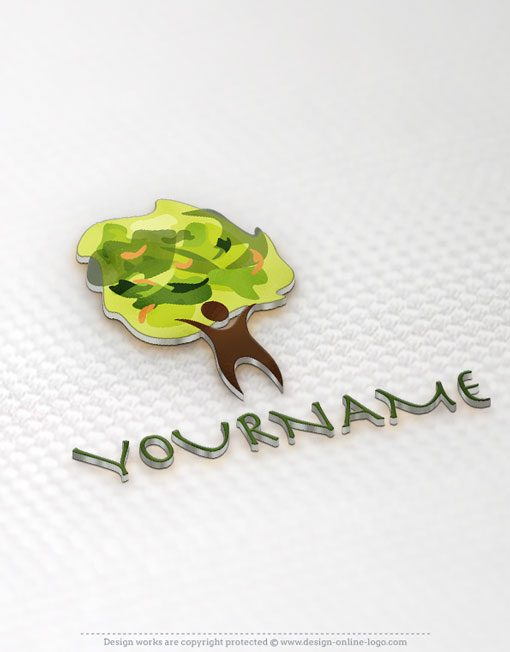 Man tree logo template + FREE Business Card