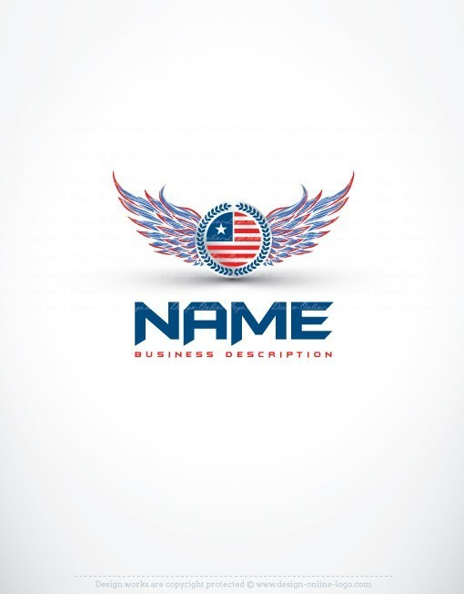 USA America wings Logo