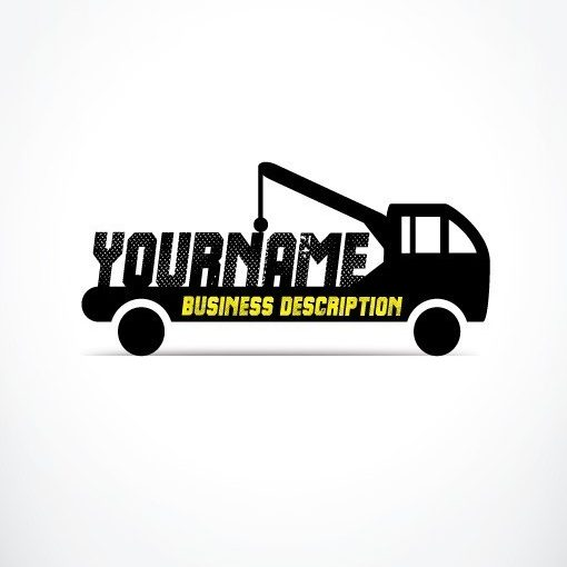 buy towing truck Logo + FREE Business Card