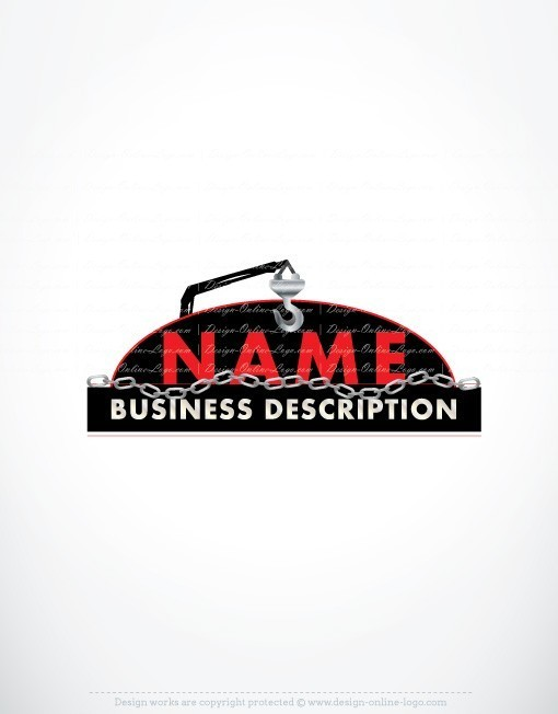Exclusive Design Crane Towing Logos Template Free Business Card