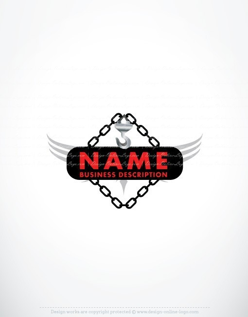 Crane Towing Logo Template Exclusive Design Free Business Card