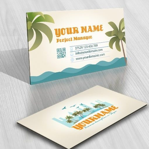 Beach Real Estate Logo + FREE Business Card