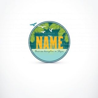 Beach sunset Logo + FREE Business Card