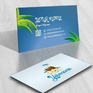 Exclusive Design: Coconut Cocktail Bar Logo + FREE Business Card