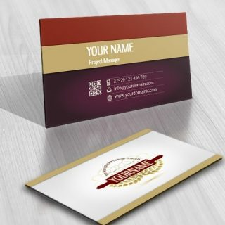 Buy Wheat Bakery rolling pin Logo free card design