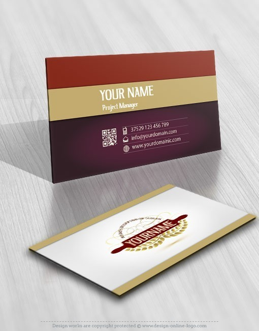 Buy wheat bakery logo free business card buy wheat bakery rolling pin logo free card design reheart Image collections