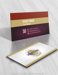 Exclusive Design: Globe Logo template + FREE Business Card