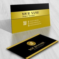 Initials Stamp logo + FREE Business Card