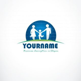Family Logo template + FREE Business Card