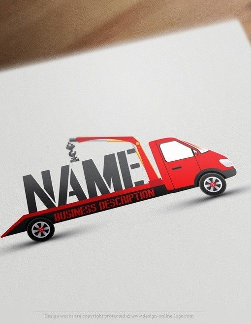 Exclusive Design buy tow truck Logo + FREE Business Card