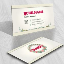 Buy vintage flowers logo + FREE Business Card