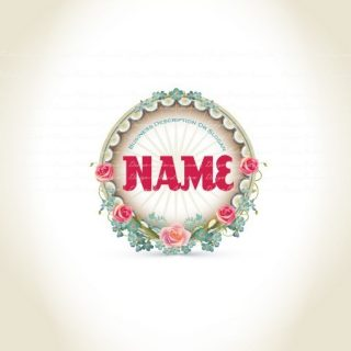 Buy vintage flowers logo