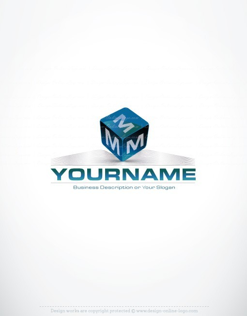 Exclusive Design: Buy 3D Initial Cube Logo + FREE Business Card