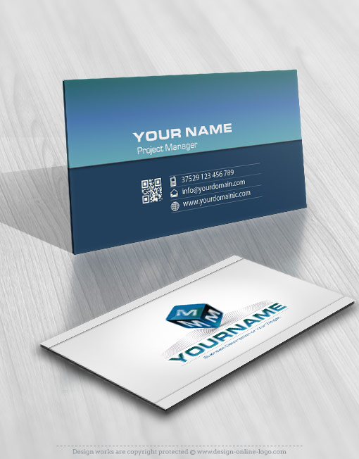 Buy 3D Initial Cube Logo + FREE Business Card