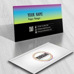 Online Art Circles Logo + FREE Business Card