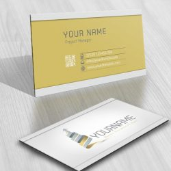 Finance Realty logo template + FREE Business Card