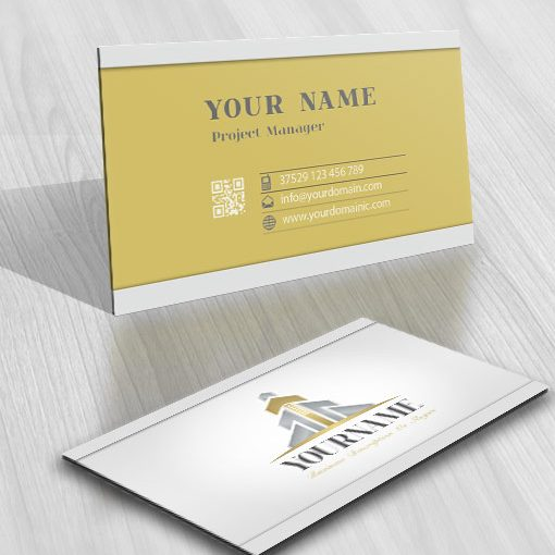 Exclusive Finance Real Estate logo free card design