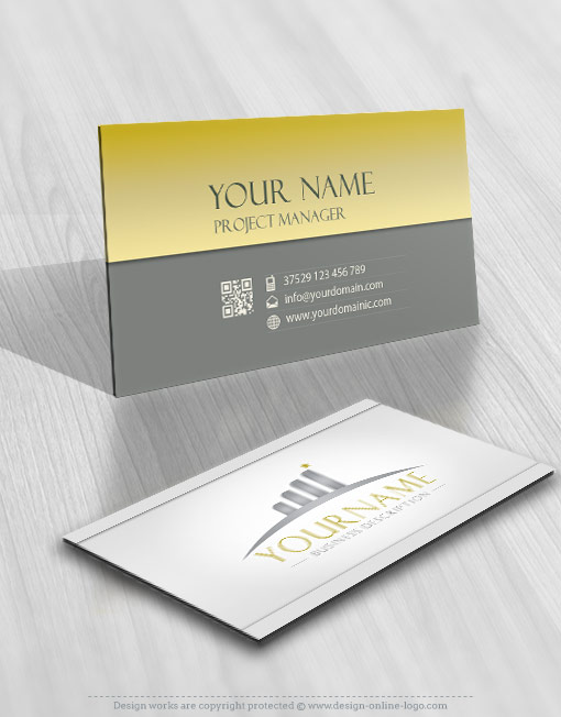 Exclusive design: Horizon path logo template + FREE Business Card