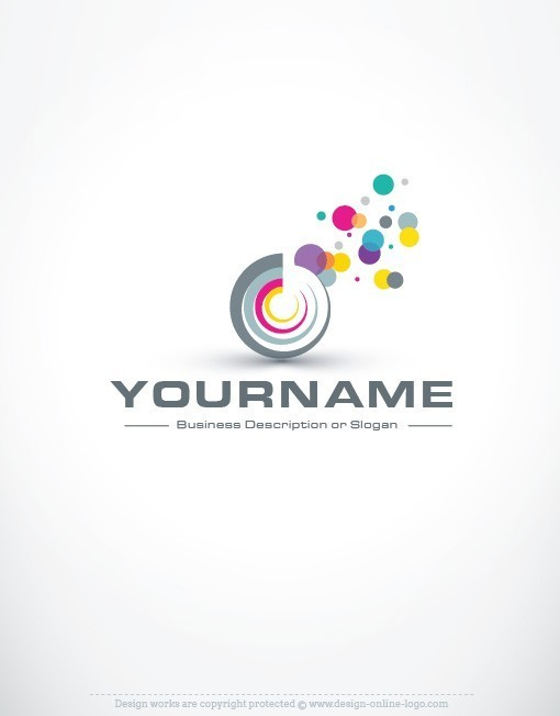 Design buy online abstract logo free business card for Make a blueprint free online