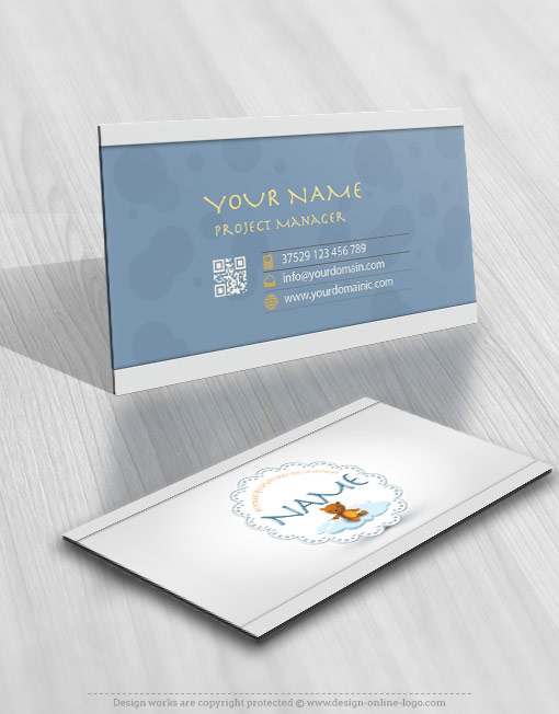 Design Online Teddy Bear Logo + FREE Business Card