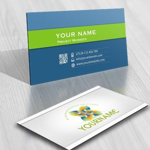 Exclusive Design Industrial Flower Logos FREE Business Card