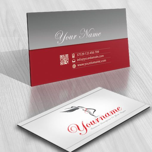 Design Sexy Woman online Logo FREE Business Card