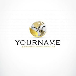 Globe initials logo + FREE Business Card